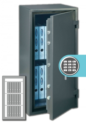 Rottner Papiersicherungsschrank FireProfi 140 EL Premium