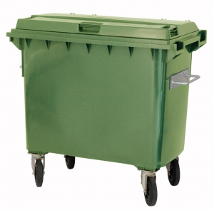 Kunstoffcontainer 660 Liter mit 4 Lenkrollen