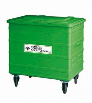 Kompost Container 800 Liter mit Belüftungsschlitzen