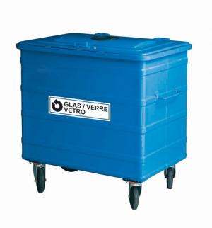 Glas Container 800 Liter mit Einwurfmanschette