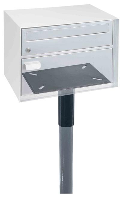 Adapter und Ständer für Swiss-Mailbox Briefkasten mit Paketfach
