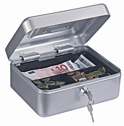 Geldkassette Traun 2 silber