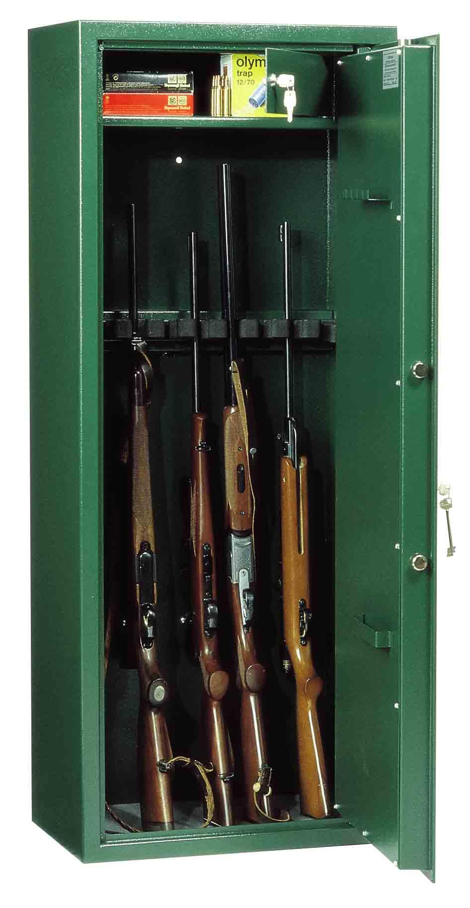 Rottner Waffenschrank WF150 E11 Premium DB, 11 Waffenhalter für ...