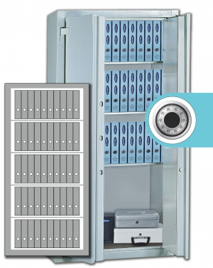 Stahlbüroschrank Residenz  DS 195 L ZKS Premium (2flg.)